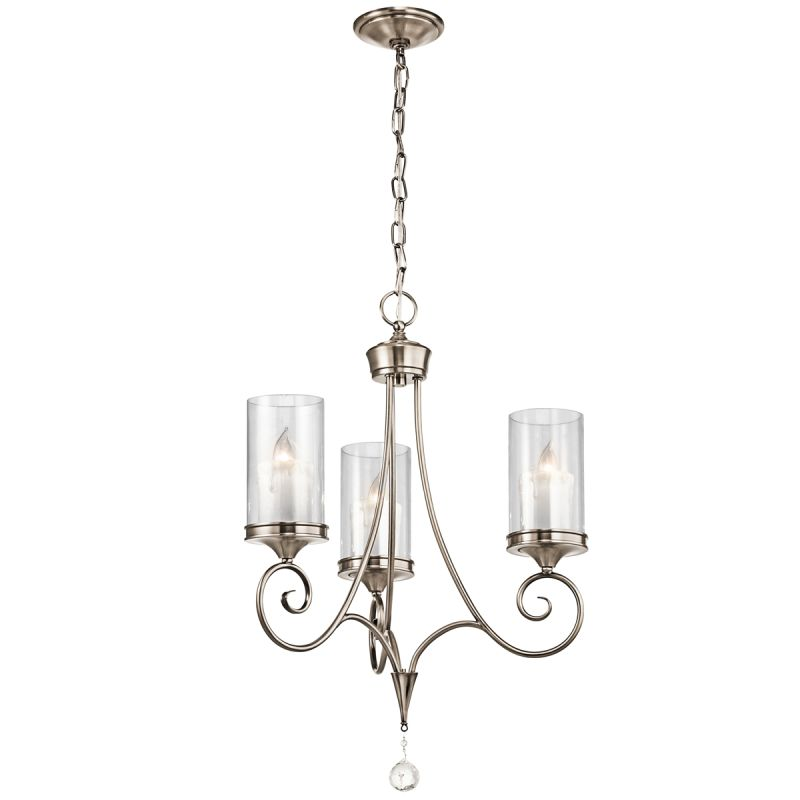 "Kichler 42860 Lara Single-Tier Chandelier with 3 Lights - 72"" Chain"