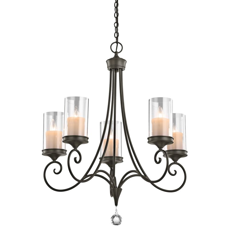 "Kichler 42861 Lara Single-Tier Chandelier with 5 Lights - 72"" Chain"