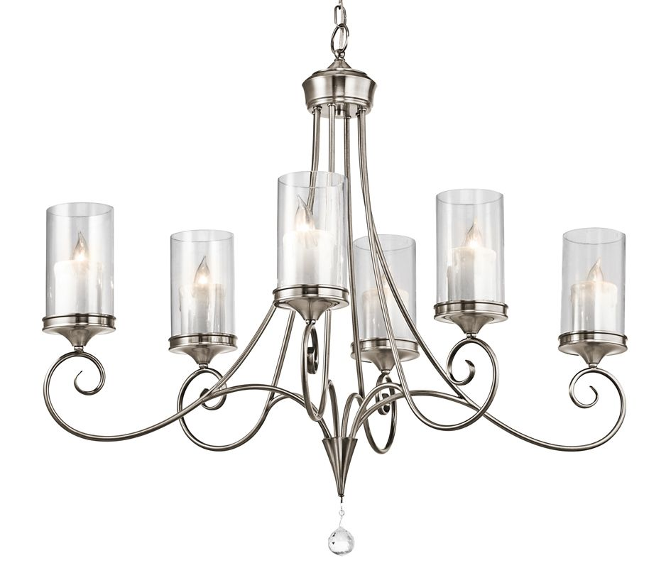 Kichler 42862 Lara Single-Tier Oval Chandelier with 6 Lights - 72""