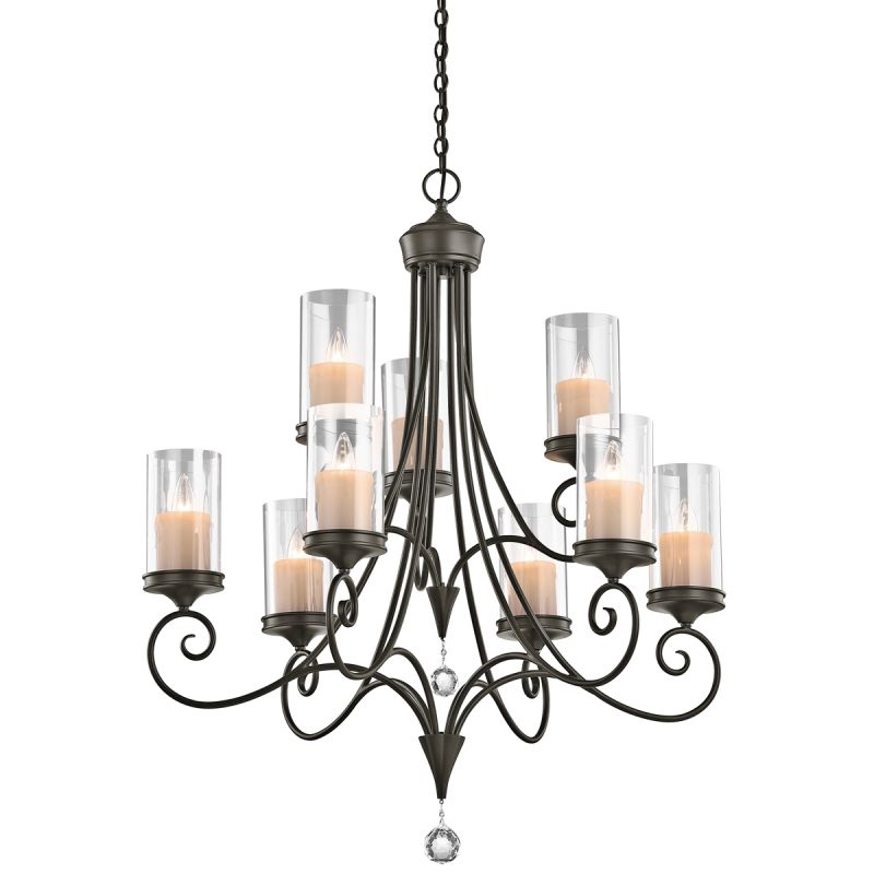 "Kichler 42863 Lara 2-Tier Chandelier with 9 Lights - 72"" Chain"