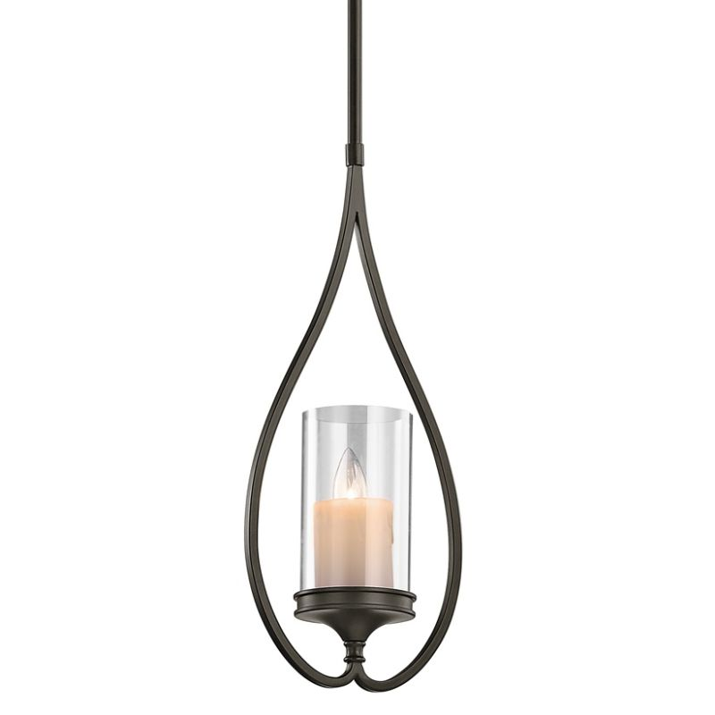 Kichler 42865 Lara Single-Bulb Indoor Pendant with Cylindrical Glass