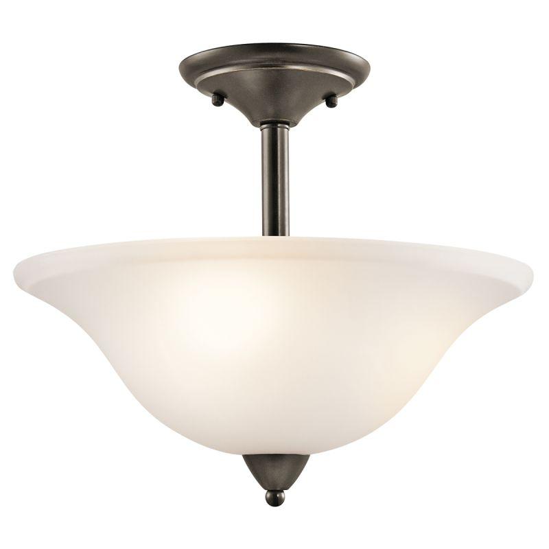 Kichler 42879 Nicholson 3 Light Semi-Flush Indoor Ceiling Fixture Olde