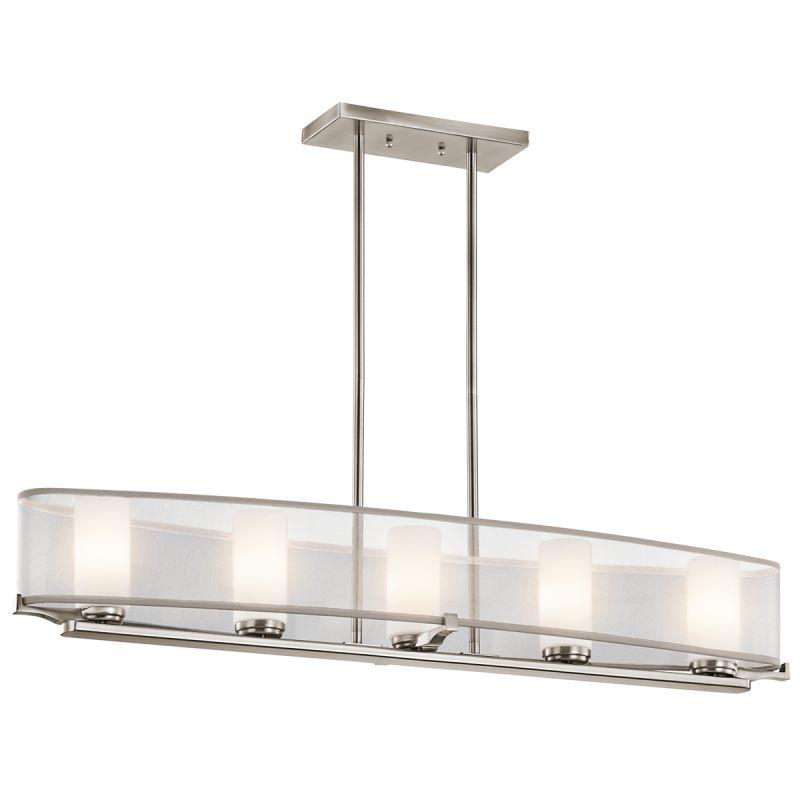 Kichler 42920 Saldana Single-Tier Linear Chandelier with 5 Lights -