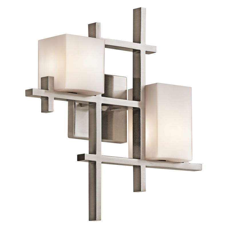 """Kichler 42942 City Lights 2 Light 16"""" High Wall Sconce Classic Pewter"""