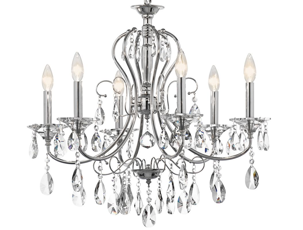 "Kichler 43121 Jules Single-Tier Chandelier with 6 Lights - 72"" Chain"
