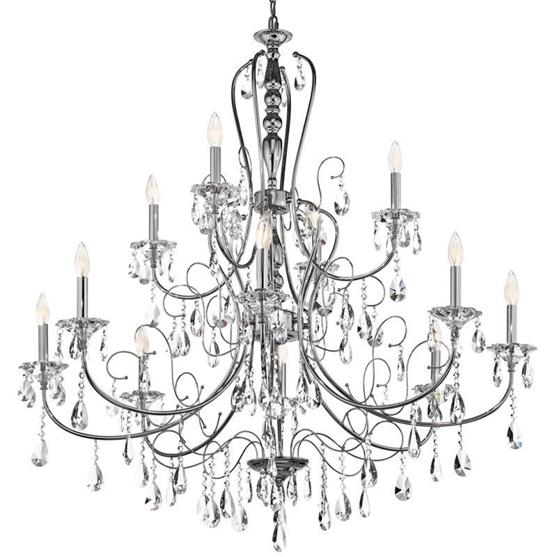 "Kichler 43124 Jules 2-Tier Chandelier with 12 Lights - 72"" Chain"