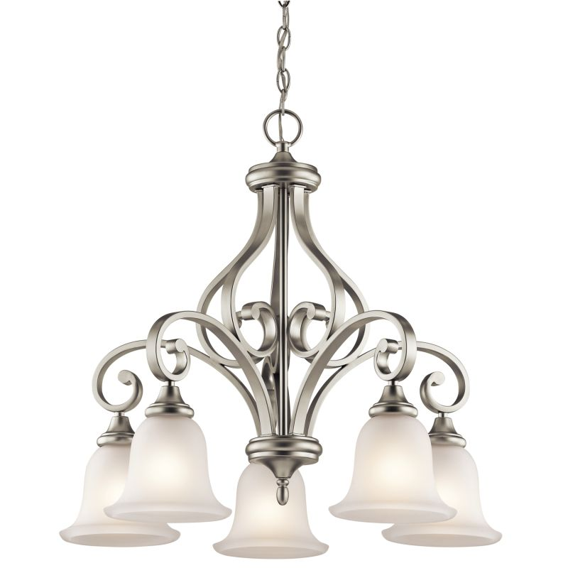 "Kichler 43158 Monroe Chandelier with 5 Lights - 27"" Wide Brushed"