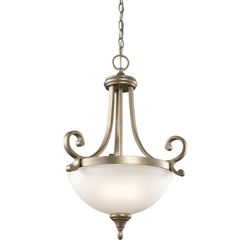 Kichler 43163 Monroe 2 Light Pendant Light Sterling Gold Indoor