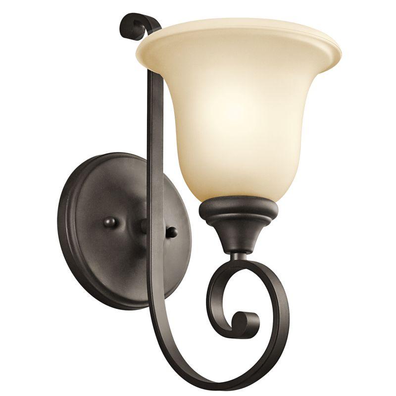 Kichler 43170 Monroe 1 Light Wall Sconce Olde Bronze Indoor Lighting