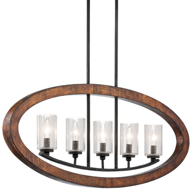 Kichler 43186 Grand Bank Single-Tier Linear Chandelier with 5 Lights -