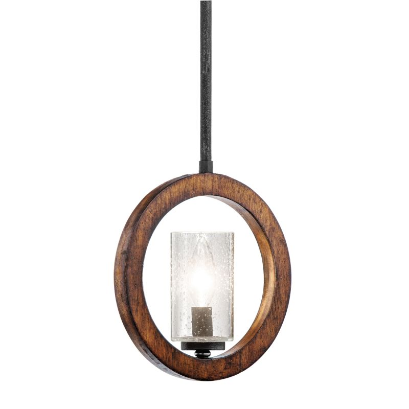 Kichler 43189 Grand Bank Single-Bulb Indoor Pendant with Cylindrical