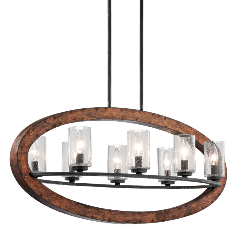 Kichler 43191 Grand Bank Single-Tier Linear Chandelier with 8 Lights -
