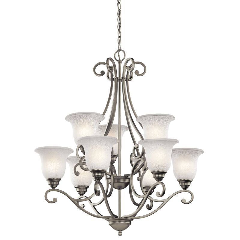 "Kichler 43226 Camerena 9 Light 30"" Wide 2-Tier Chandelier with Scavo"