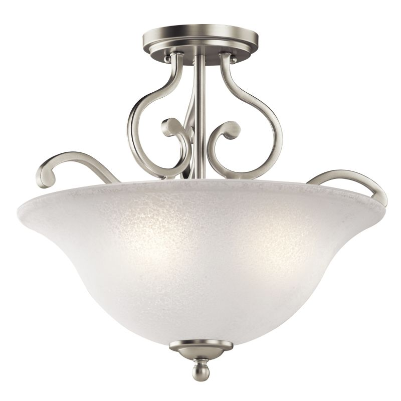 "Kichler 43232 Camerena 3 Light 18"" Wide Semi-Flush Ceiling Fixture"