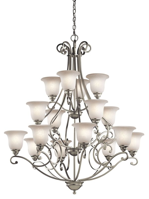 "Kichler 43234 Camerena 16 Light 45"" Wide 3-Tier Chandelier with Scavo"