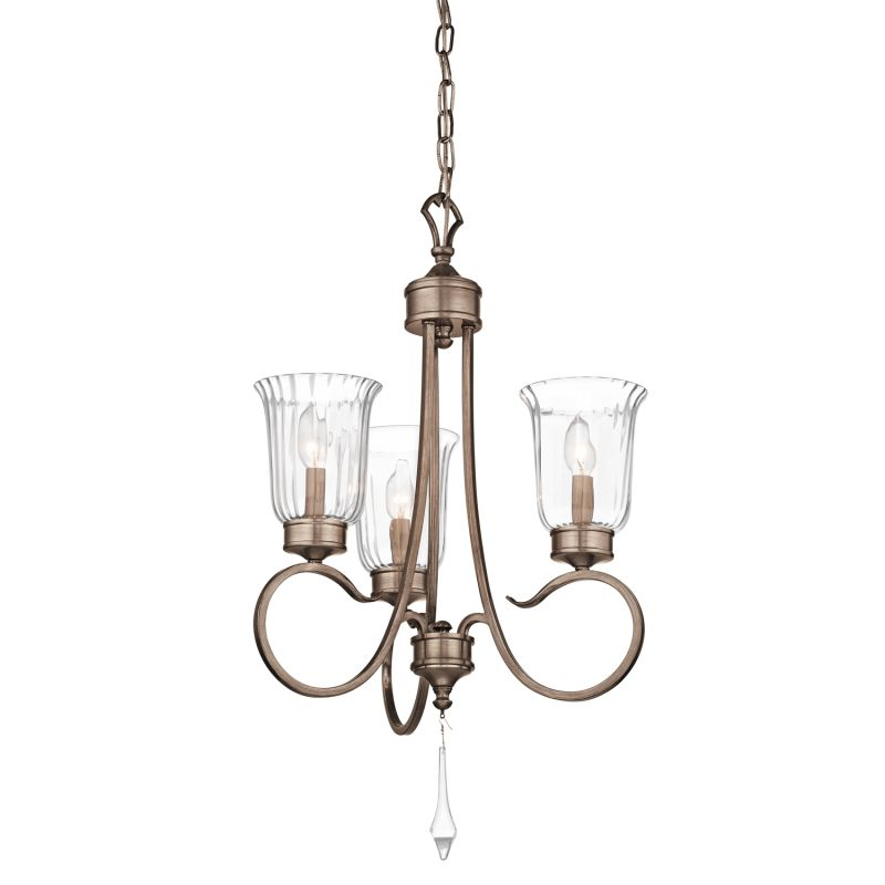 Kichler 43237 Malina Single-Tier Candle-Style Chandelier with 3 Lights Sale $69.00 ITEM: bci2232706 ID#:43237BRSG UPC: 783927383813 :