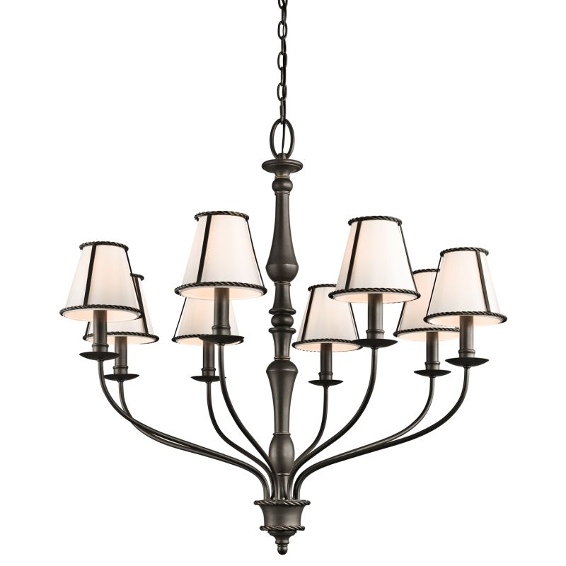 Kichler 43344 Donington Single-Tier Candle-Style Chandelier with 8