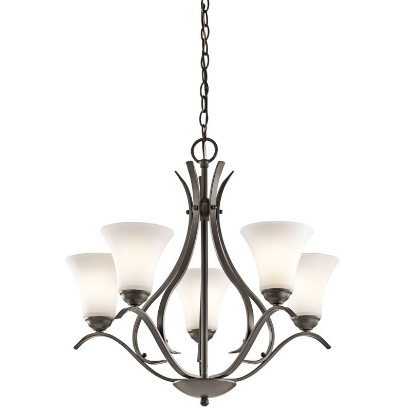"Kichler 43504 Keiran 1-Tier Chandelier with 5 Lights - 72"" Chain"