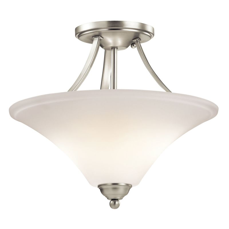 Kichler 43512 Keiran 2 Light Indoor Semi-Flush Ceiling Fixture Brushed