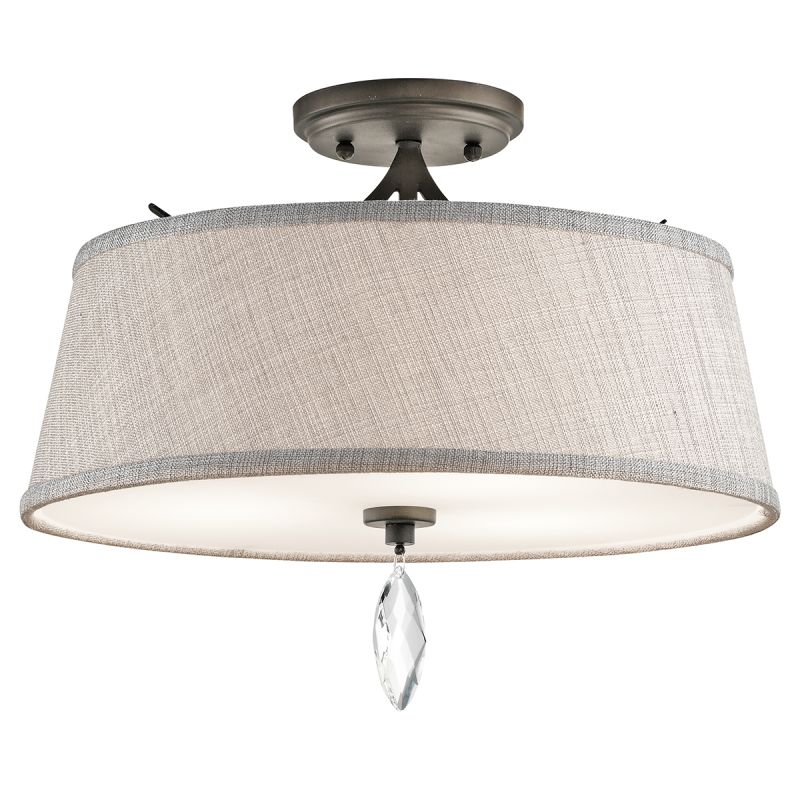 Kichler 43567 Casilda 3 Light Semi-Flush Ceiling Light Olde Bronze Sale $195.80 ITEM: bci2608442 ID#:43567OZ UPC: 783927442558 :