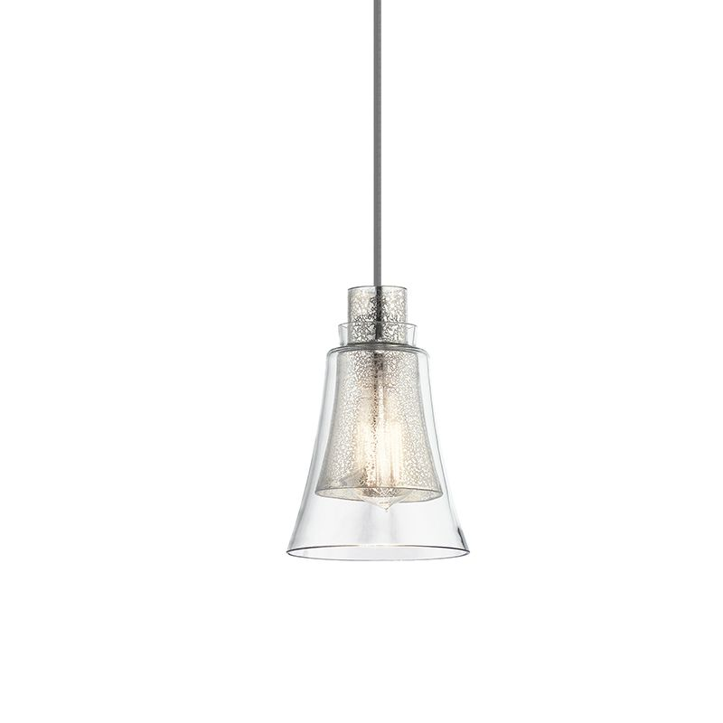 Kichler 43629 Evie Mini Pendant with Mercury Glass Brushed Nickel Sale $158.40 ITEM: bci2608465 ID#:43629NI UPC: 783927444811 :