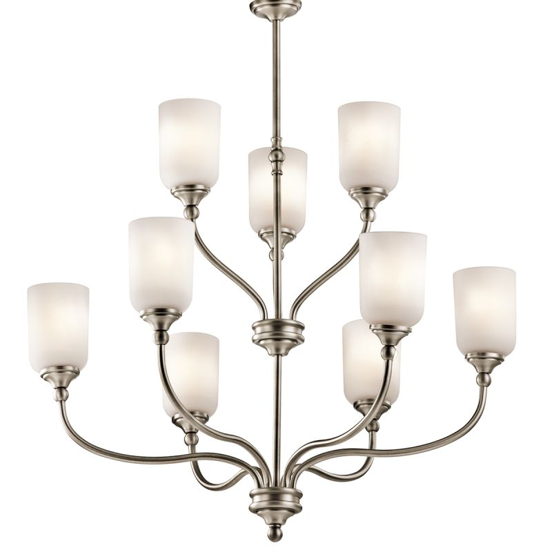 """Kichler 43652 Lilah Chandelier with 9 Lights - 37"""" Wide Antique Pewter"""