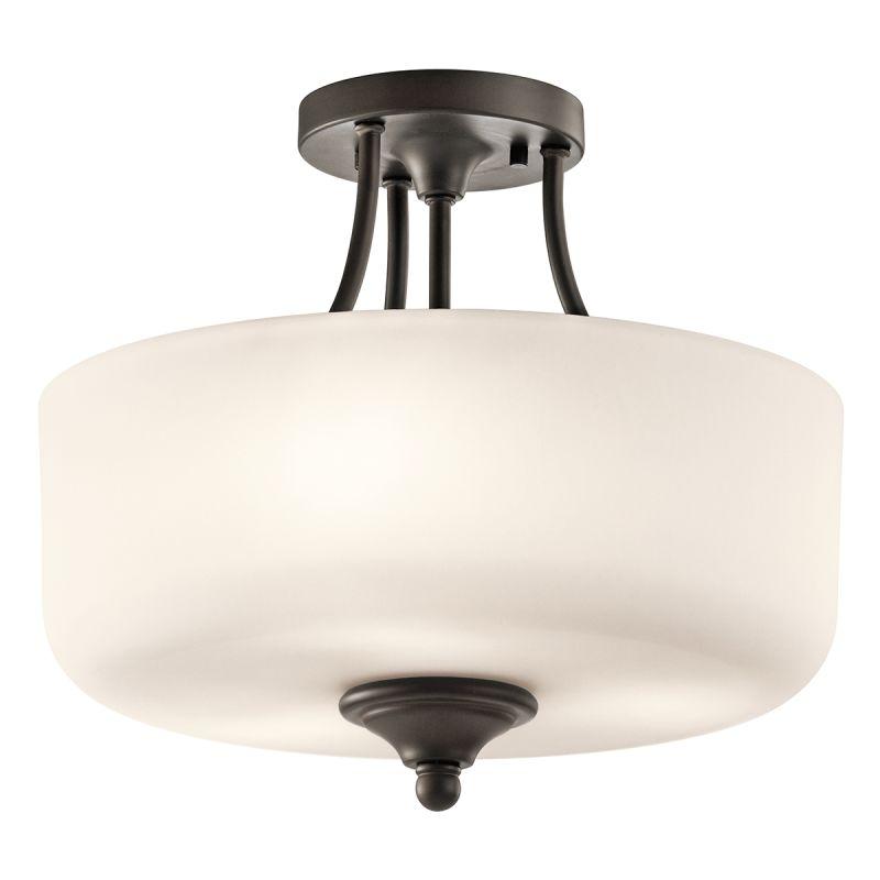 Kichler 43655 Lilah 3 Light Semi-Flush Ceiling Light Olde Bronze