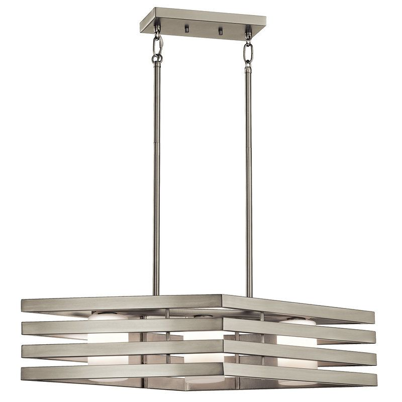 Kichler 43686 Realta Linear Chandelier with 3 Lights - 28 Inches Wide
