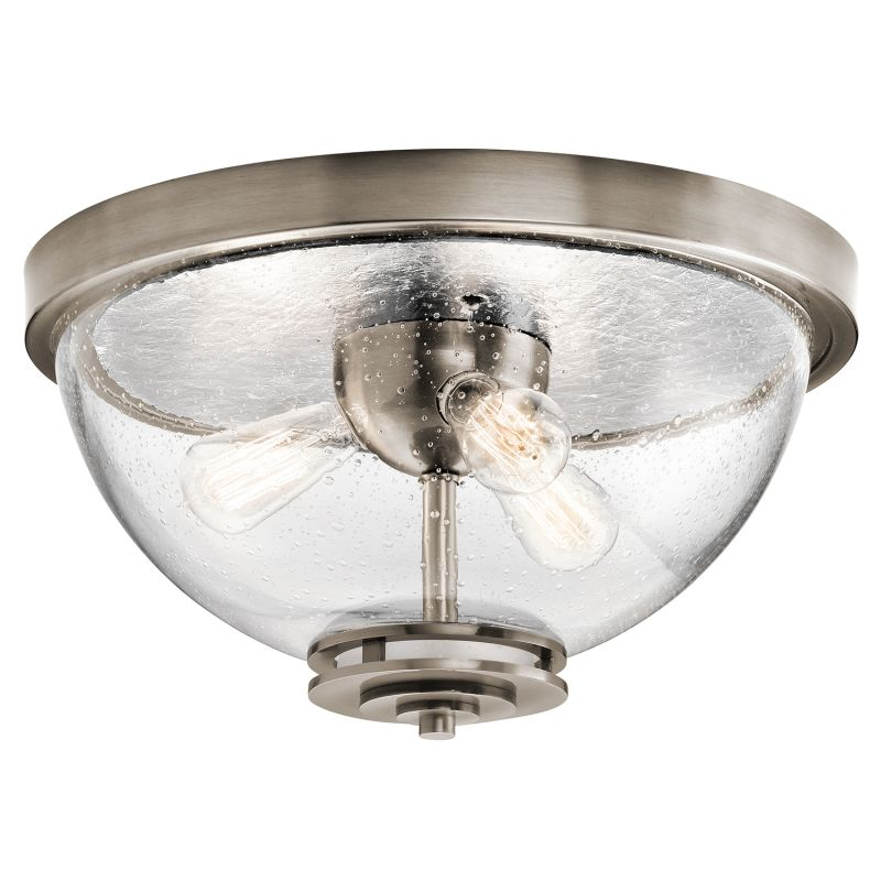 "Kichler 43740 Silberne 3 Light 18"" Wide Ceiling Fixture with Seedy"