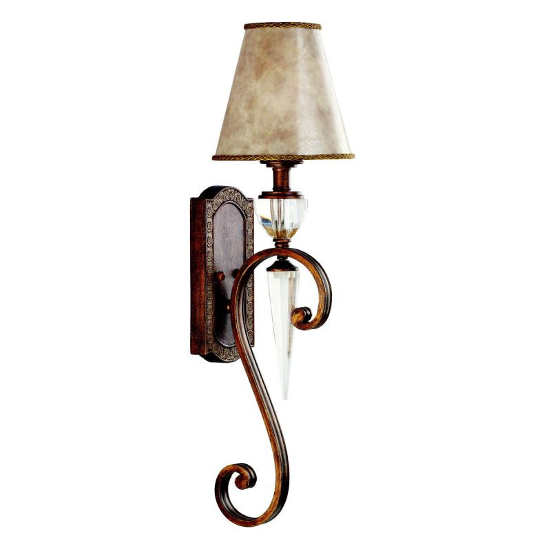 Kichler 45068HB Heritage Bronze Single Light Long Tail Wall Sconce from the Hanna Collection ...