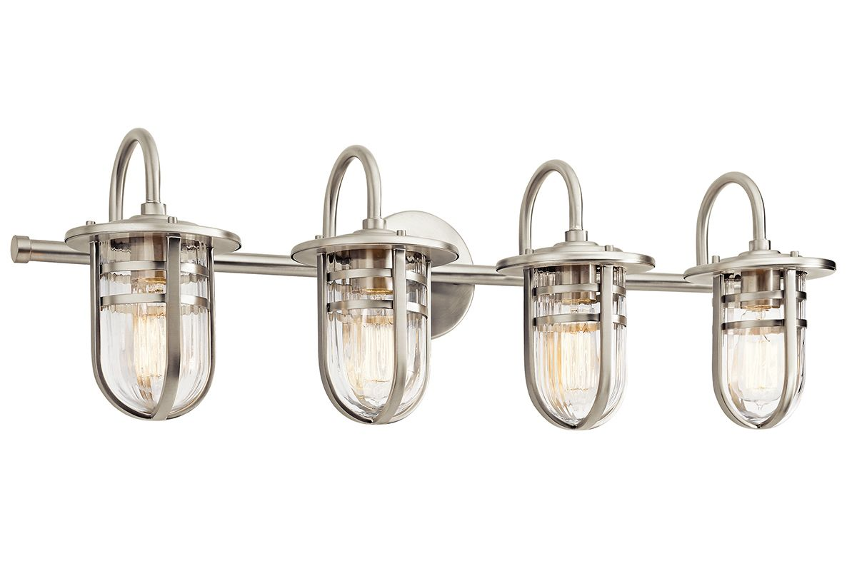 "Kichler 45134 Caparros 32"" Wide 4 Light Bathroom Vanity Light Brushed"