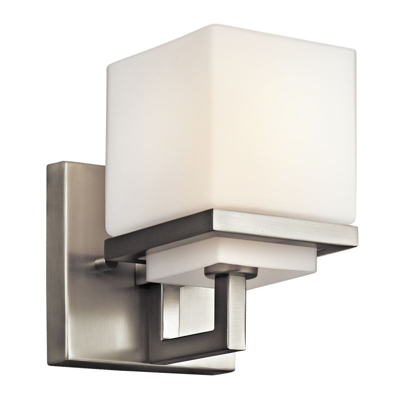 Kichler 45137ni brushed nickel metro park 4 5 wide single for Bathroom 5 light fixtures