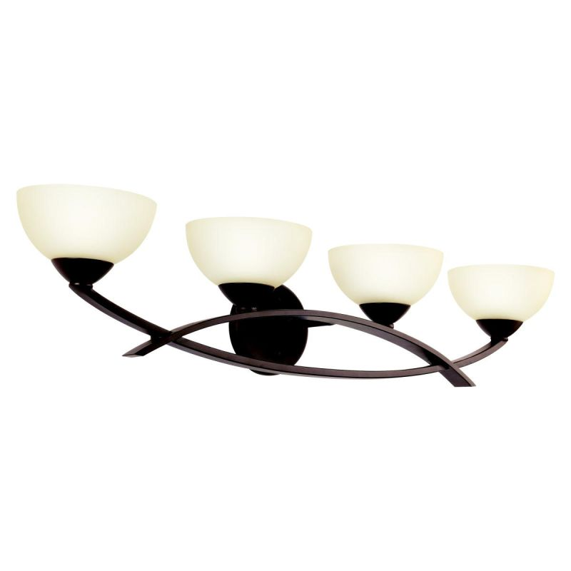 "Kichler 45164 Bellamy 33"" Wide 4-Bulb Bathroom Lighting Fixture Olde"