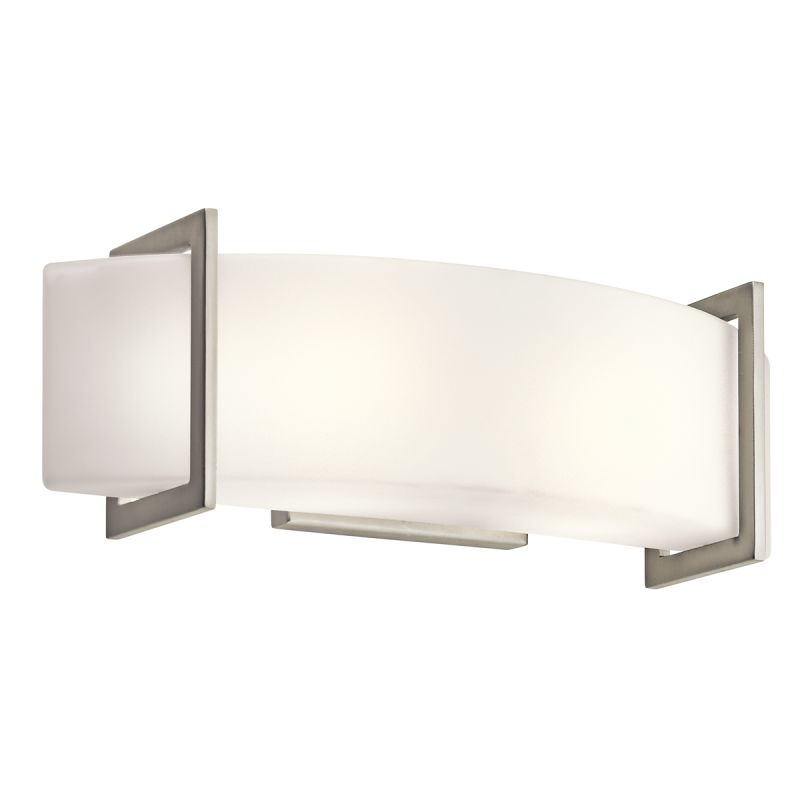 Kichler 45218NI Nickel Contemporary Crescent View Bathroom Light