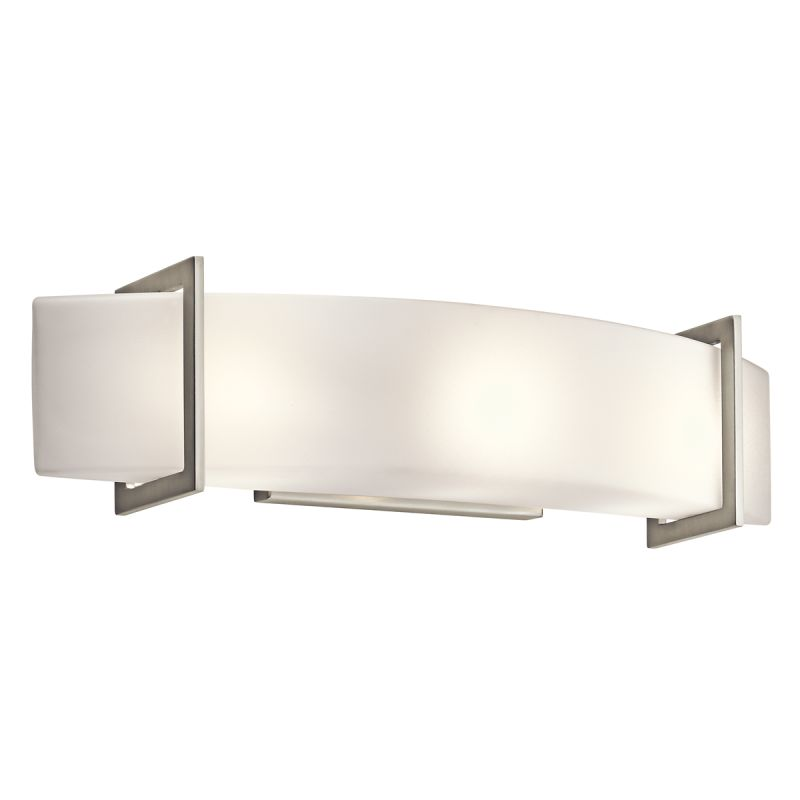 Kichler 45220ni brushed nickel crescent view 24 wide 3 for Contemporary bathroom lighting fixtures