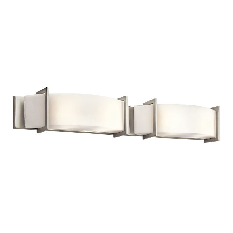 Kichler 45221ni brushed nickel crescent view 39 wide 4 for Bathroom 4 light fixtures