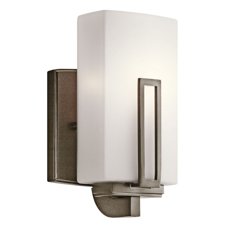 Kichler 45224SWZ Shadow Bronze 1 Light Up Light Wall Sconce from the Leeds Collection ...