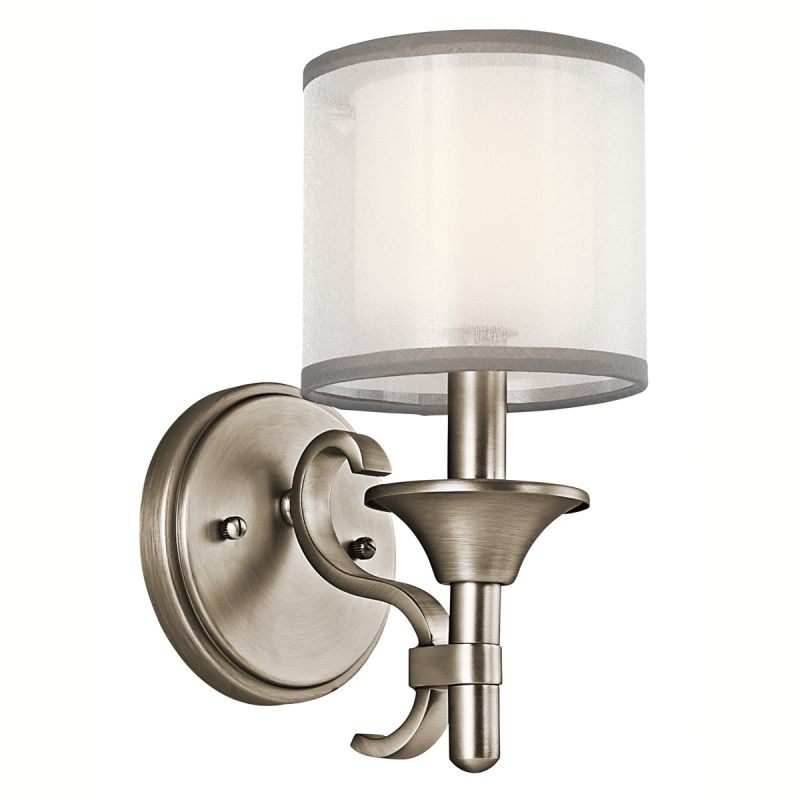 "Kichler 45281 Lacey Single Light 11"" Tall Wall Sconce with Organza"