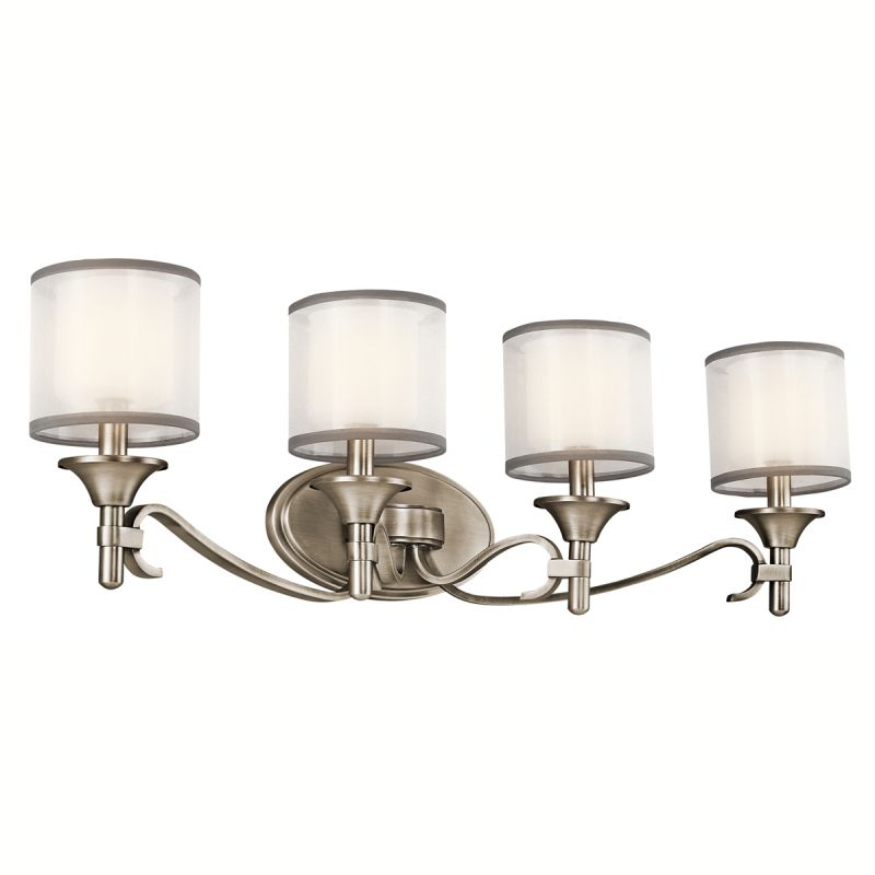 "Kichler 45284 Lacey 31"" Wide 4-Bulb Bathroom Lighting Fixture Antique"