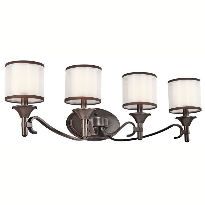 "Kichler 45284 Lacey 31"" Wide 4-Bulb Bathroom Lighting Fixture Mission"