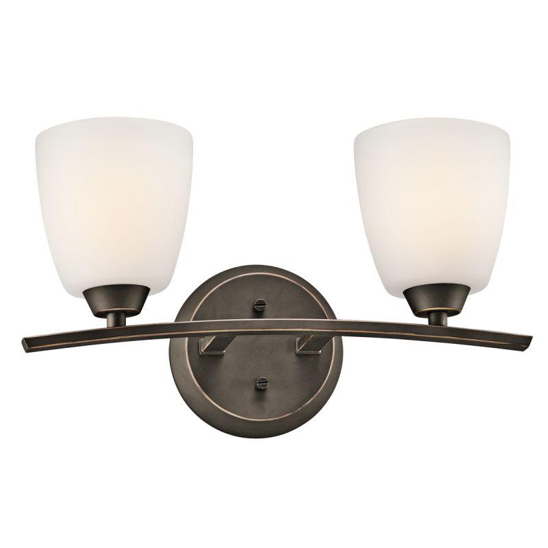 "Kichler 45359 Granby 17.05"" Wide 2-Bulb Bathroom Lighting Fixture Olde"