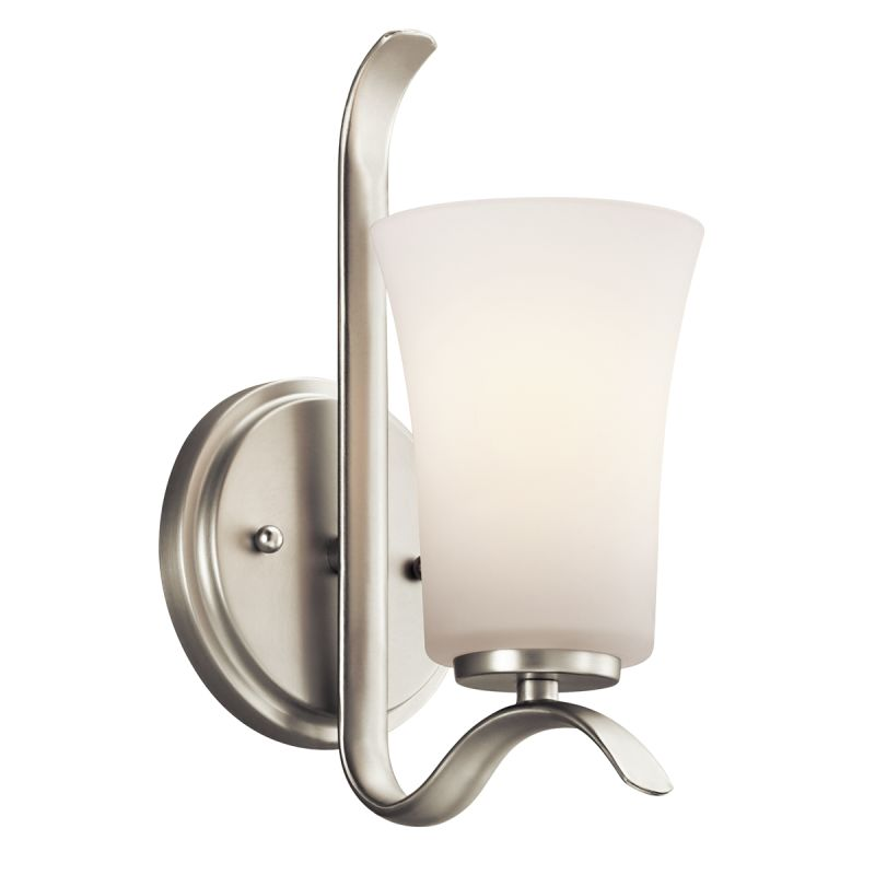 Kichler 45374 1 Light Wall Sconce from the Armida Collection Brushed