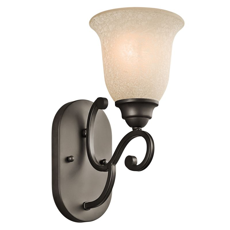 "Kichler 45421 Camerena 6"" Wide Single-Bulb Bathroom Lighting Fixture"