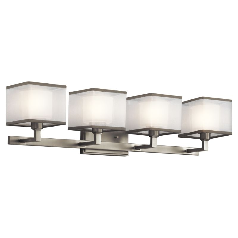 Kichler 45440ni brushed nickel kailey 30 5 wide 4 bulb for 4 light bathroom fixture