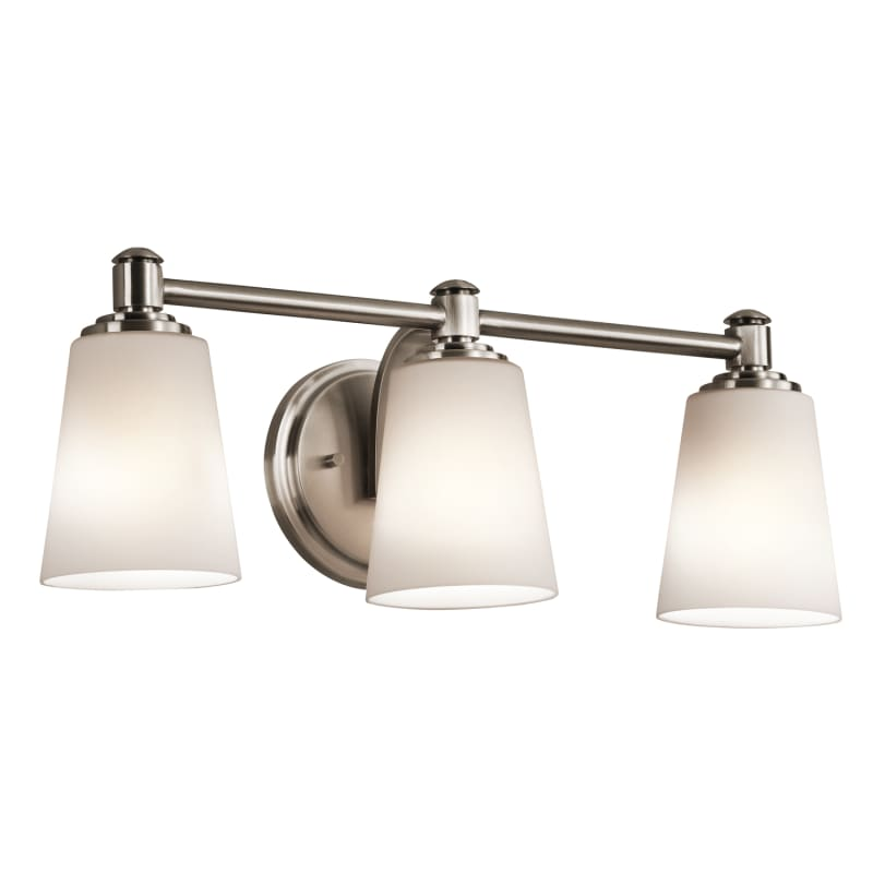 Kichler 45455clp Classic Pewter Quincy 22 Wide 3 Bulb Bathroom Lighting Fixture