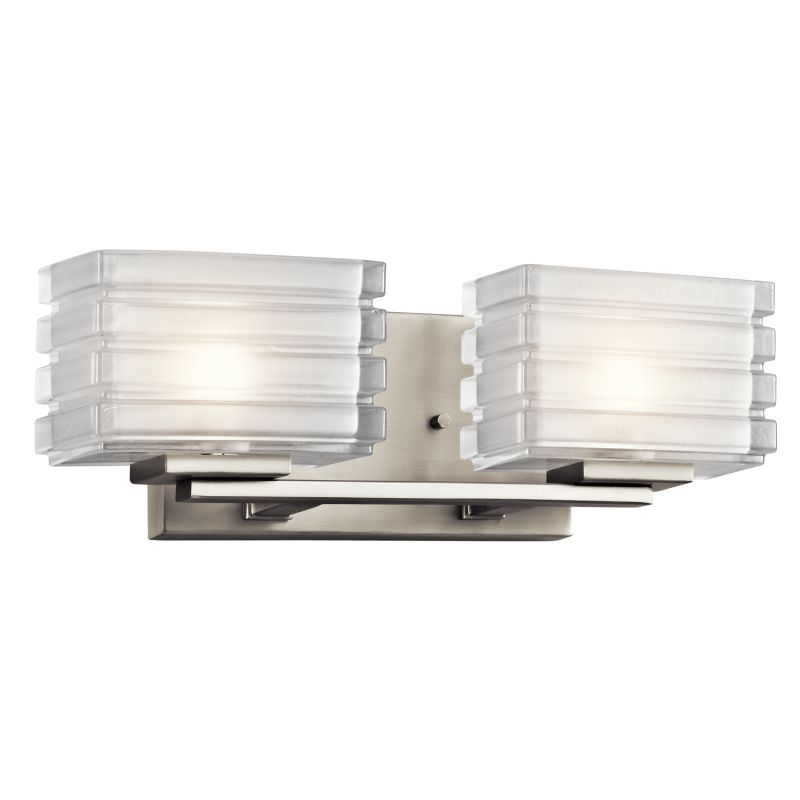 "Kichler 45478 Bazely 15"" Wide 2 Light Bathroom Vanity Light Brushed"