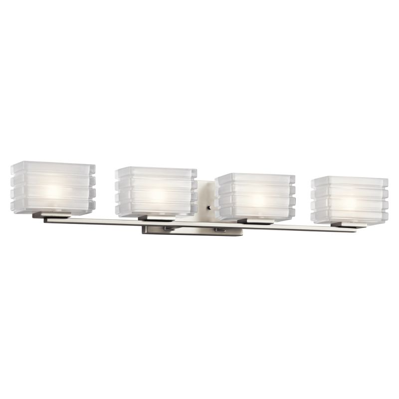 "Kichler 45480 Bazely 33"" Wide 4 Light Bathroom Vanity Light Brushed"