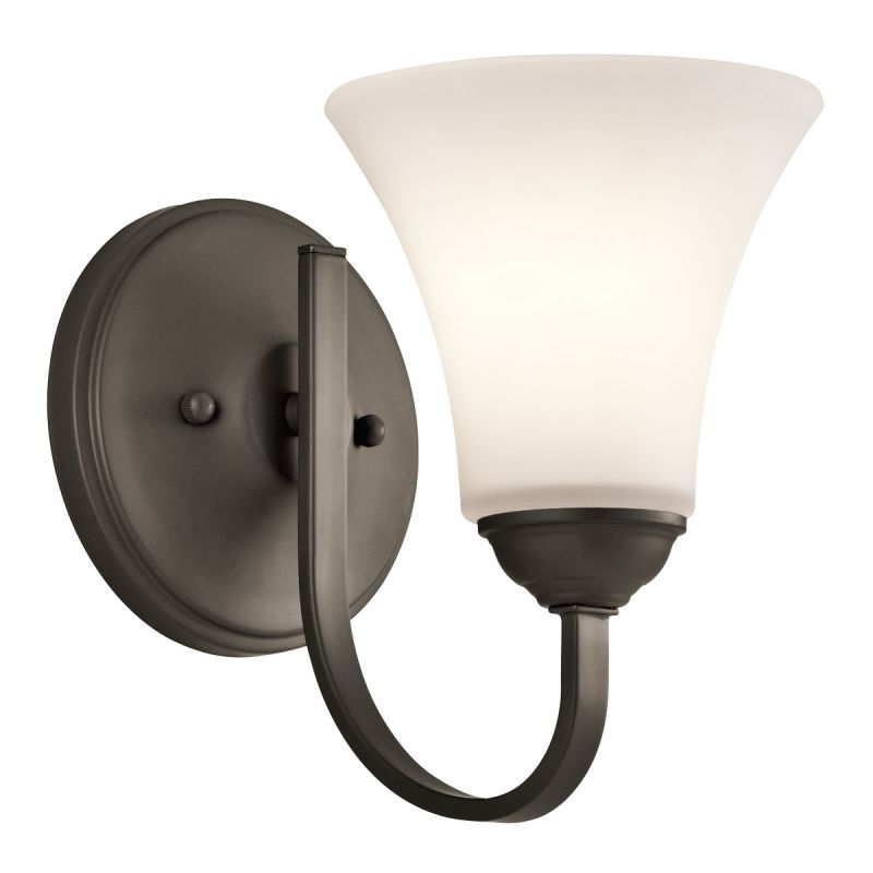Kichler 45504 1-Bulb Wall Sconce from the Keiran Collection Olde