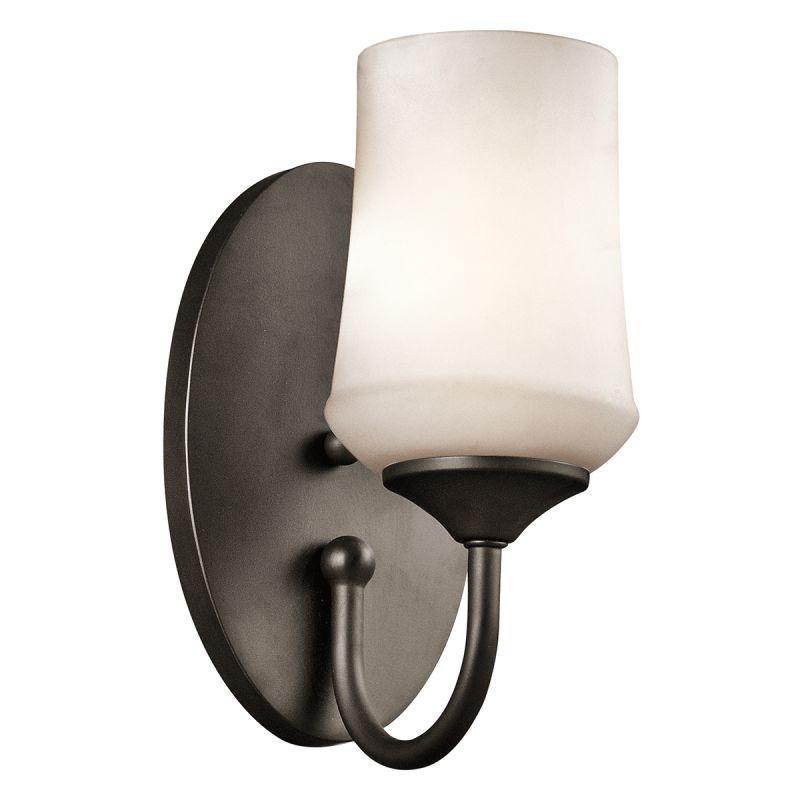 Kichler 45568 Aubrey 1 Light Wall Sconce Olde Bronze Indoor Lighting