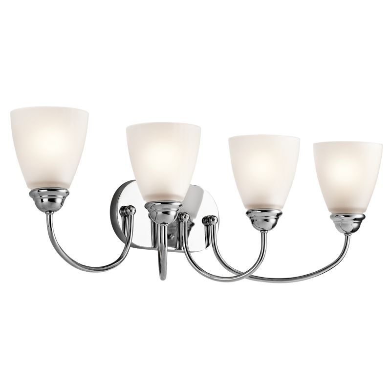 "Kichler 45640 Jolie 8"" Wide 4 Light Bathroom Vanity Light Chrome"